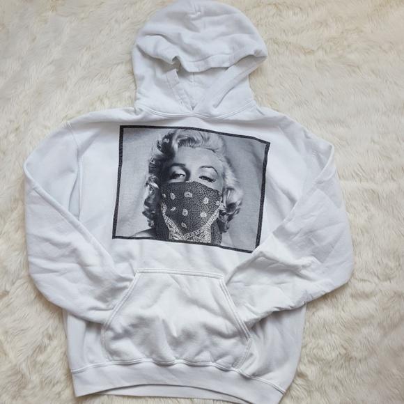 Pink hoodie sweatshirt Marilyn Monroe face hoodie men/'s size sweat-shirt
